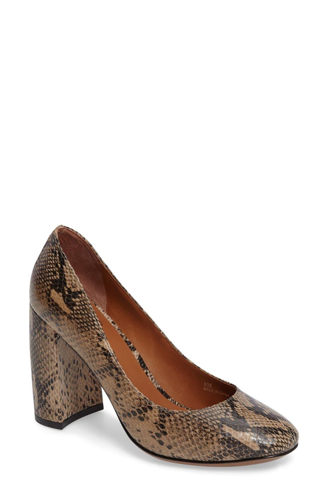 Alternate Image 1 Selected - Linea Paolo 'Brooke' Block Heel Pump (Women)