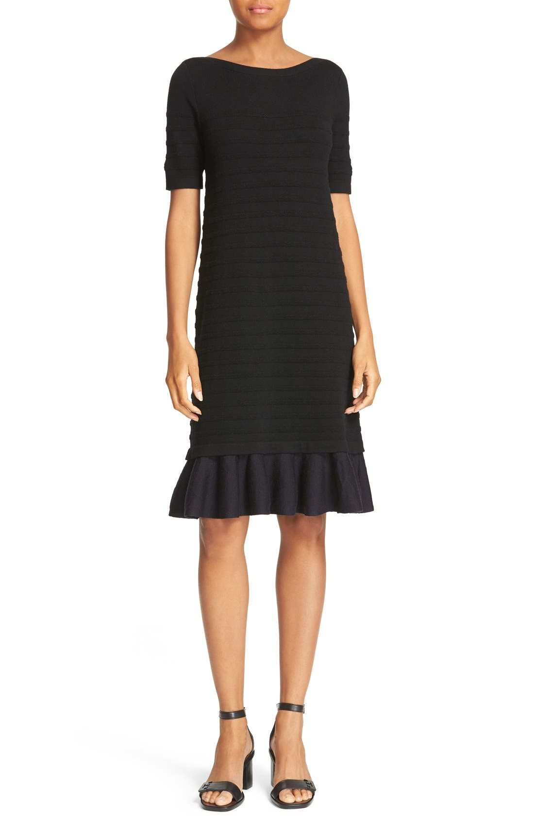 Alternate Image 1 Selected - Tory Burch Giselle Textured Merino Wool Sweater Dress