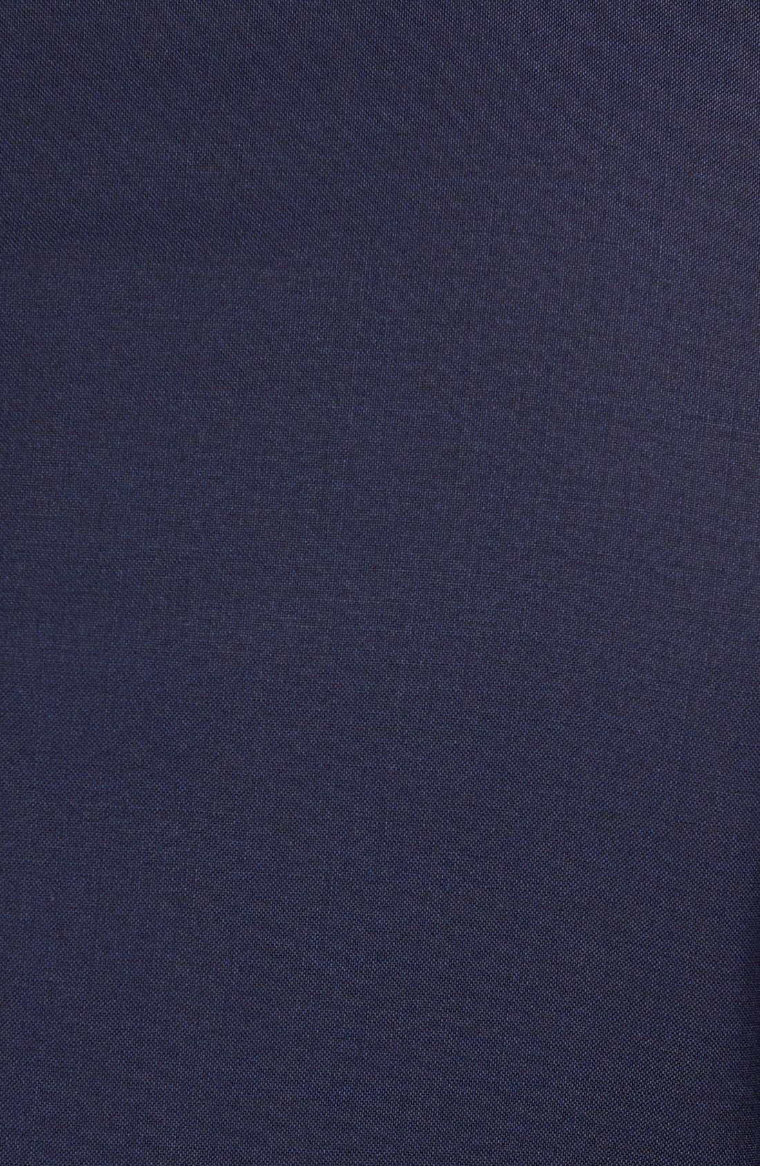 Huge/Genius Trim Fit Navy Wool Suit,                             Alternate thumbnail 7, color,                             Navy