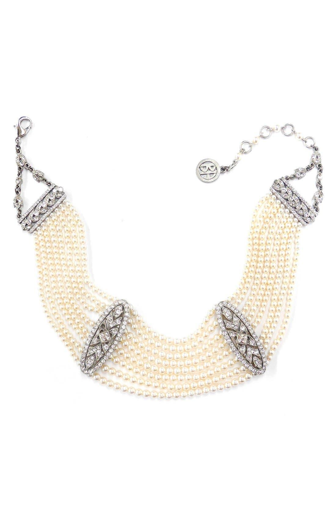 Main Image - BEN X BEN-AMUN Imitation Pearl Collar Necklace