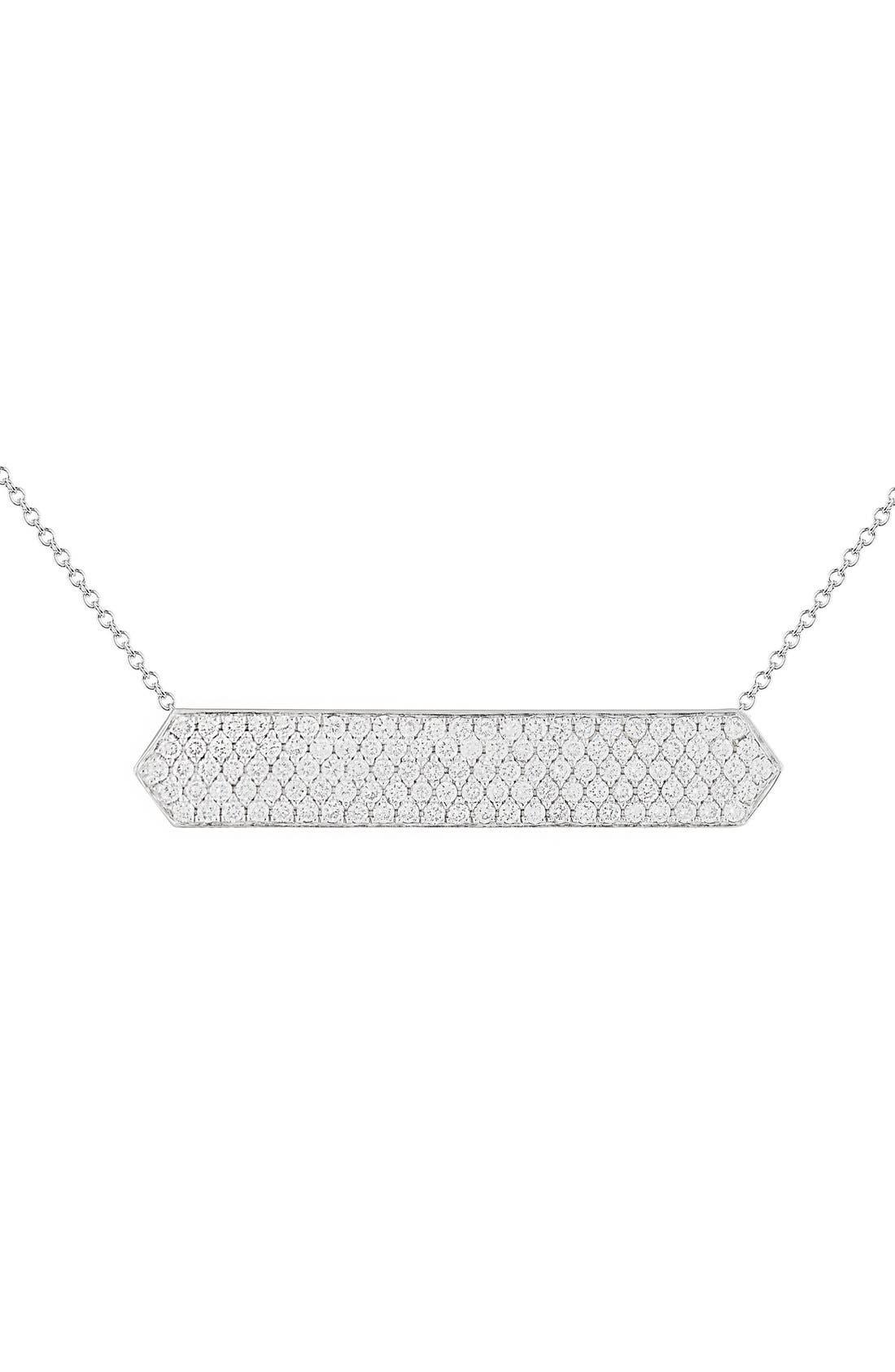 Diamond Pavé Pendant Necklace,                         Main,                         color, White Gold