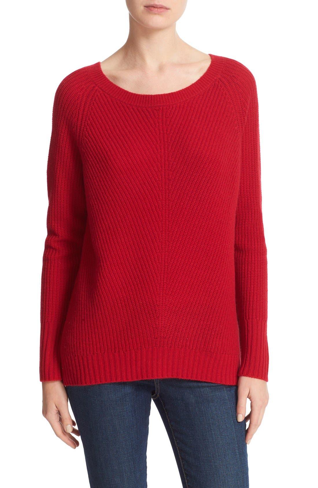Ekin Wool & Cashmere Sweater,                             Main thumbnail 1, color,                             Ruby