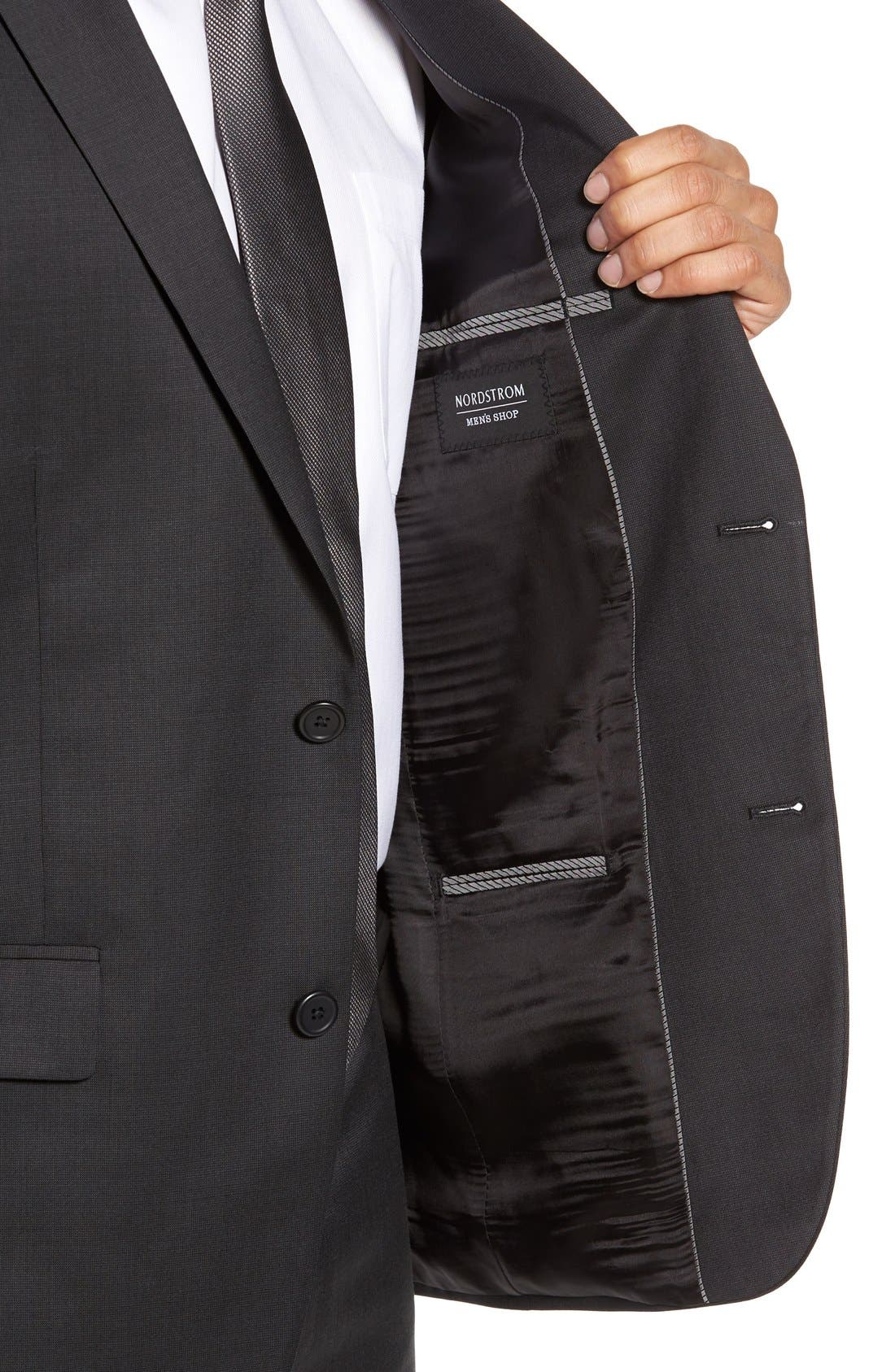 Alternate Image 5  - Nordstrom Men's Shop Classic Fit Solid Wool Suit