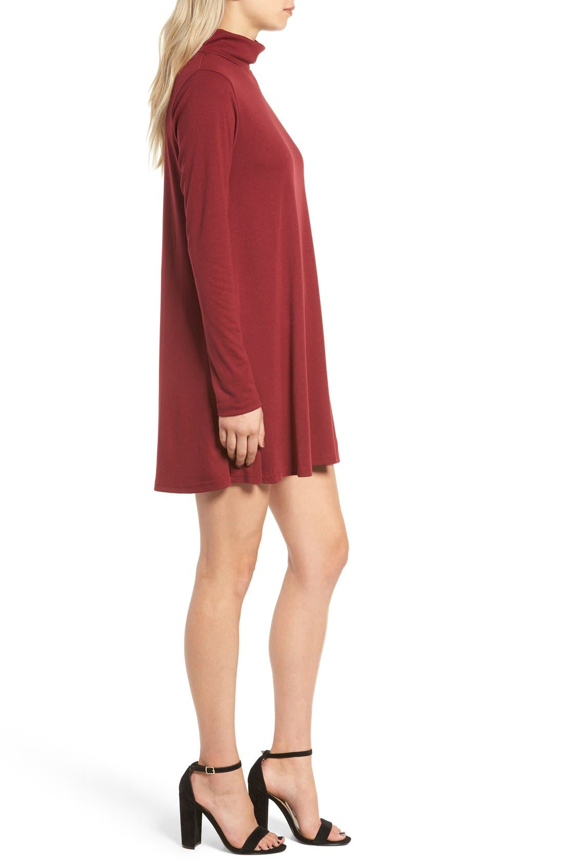 Alternate Image 3  - Cotton Emporium Turtleneck Swing Dress