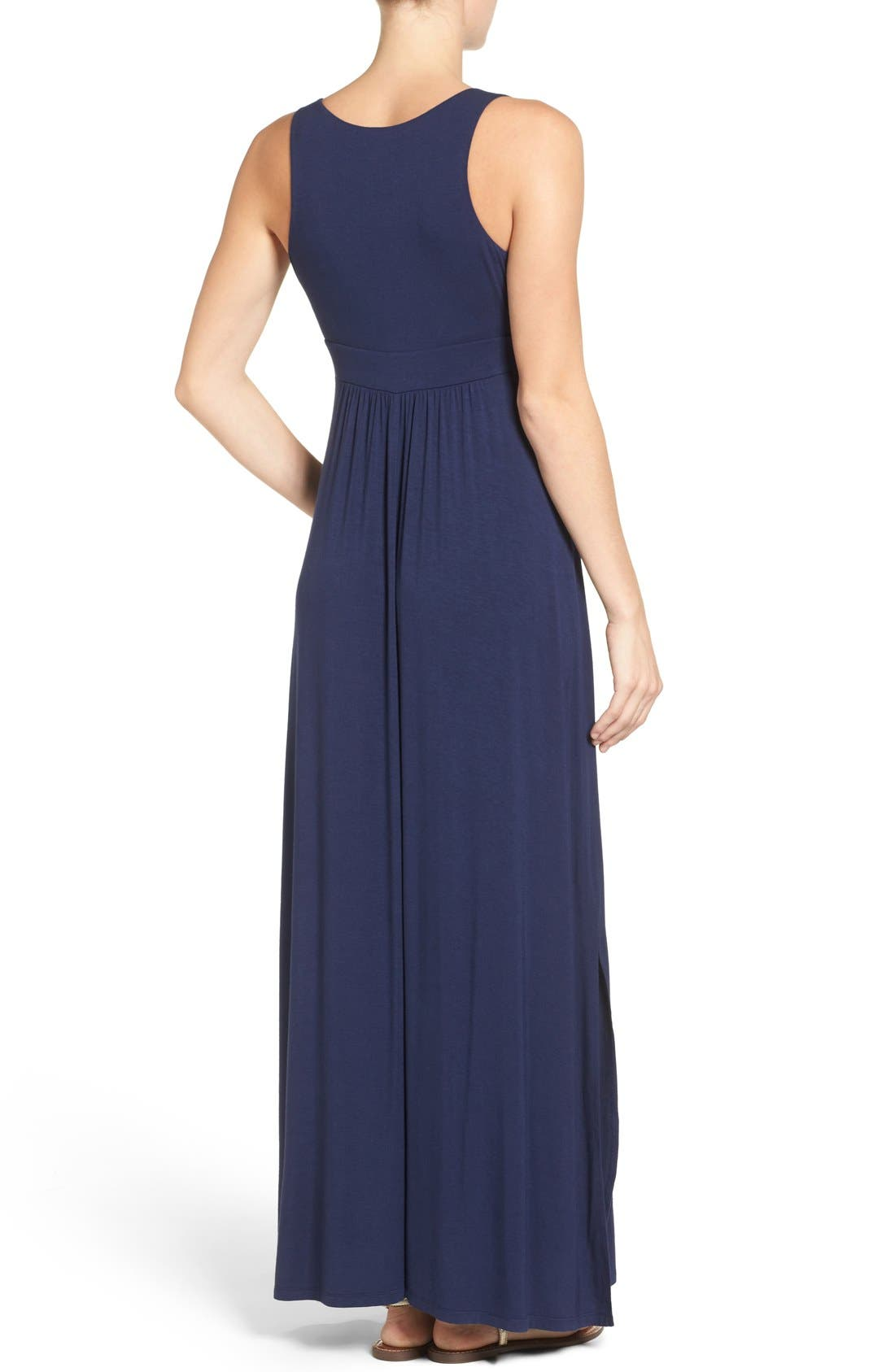 Alternate Image 2  - Caslon® Knit Maxi Dress (Regular & Petite)