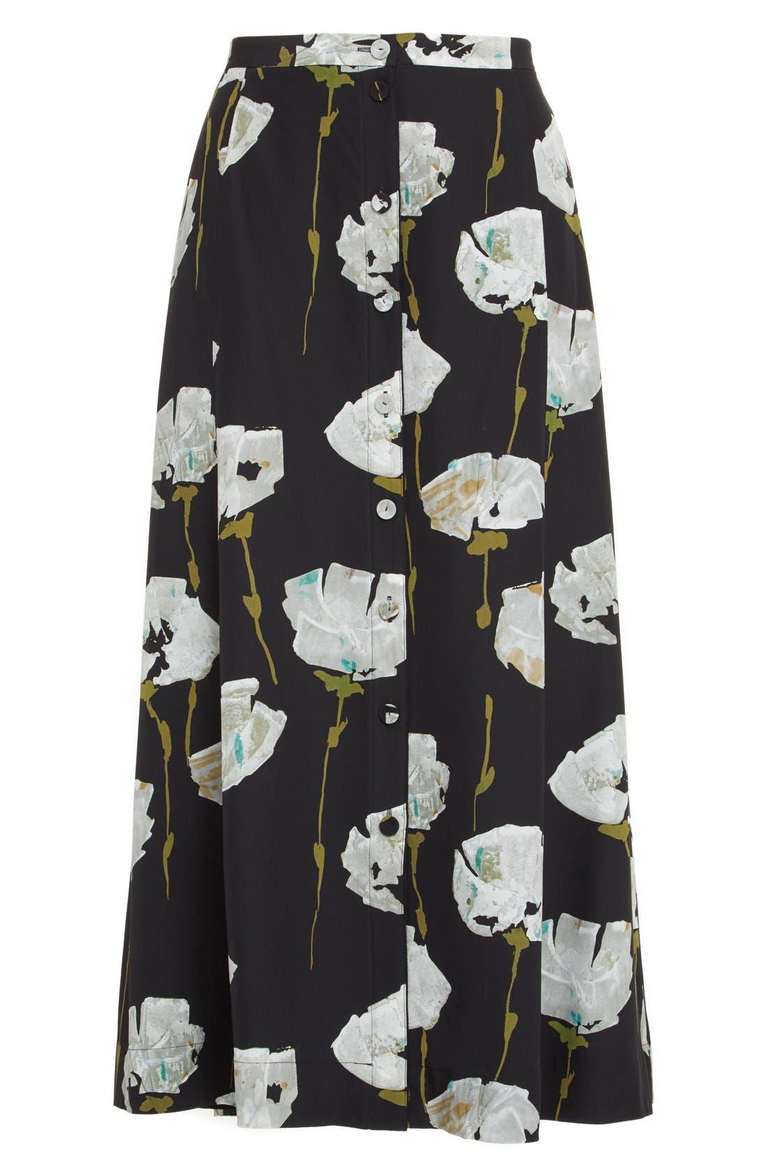 Alternate Image 4  - Lafayette 148 New York Carissa Floral Print Skirt