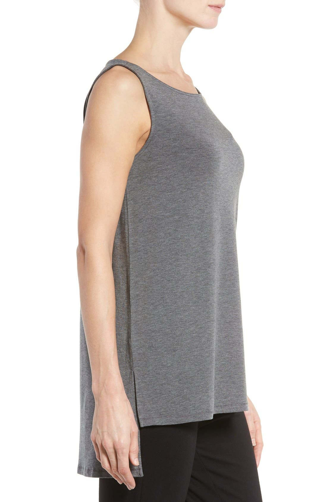 Stretch Tencel<sup>®</sup> Jersey Tank,                             Alternate thumbnail 3, color,                             Ash