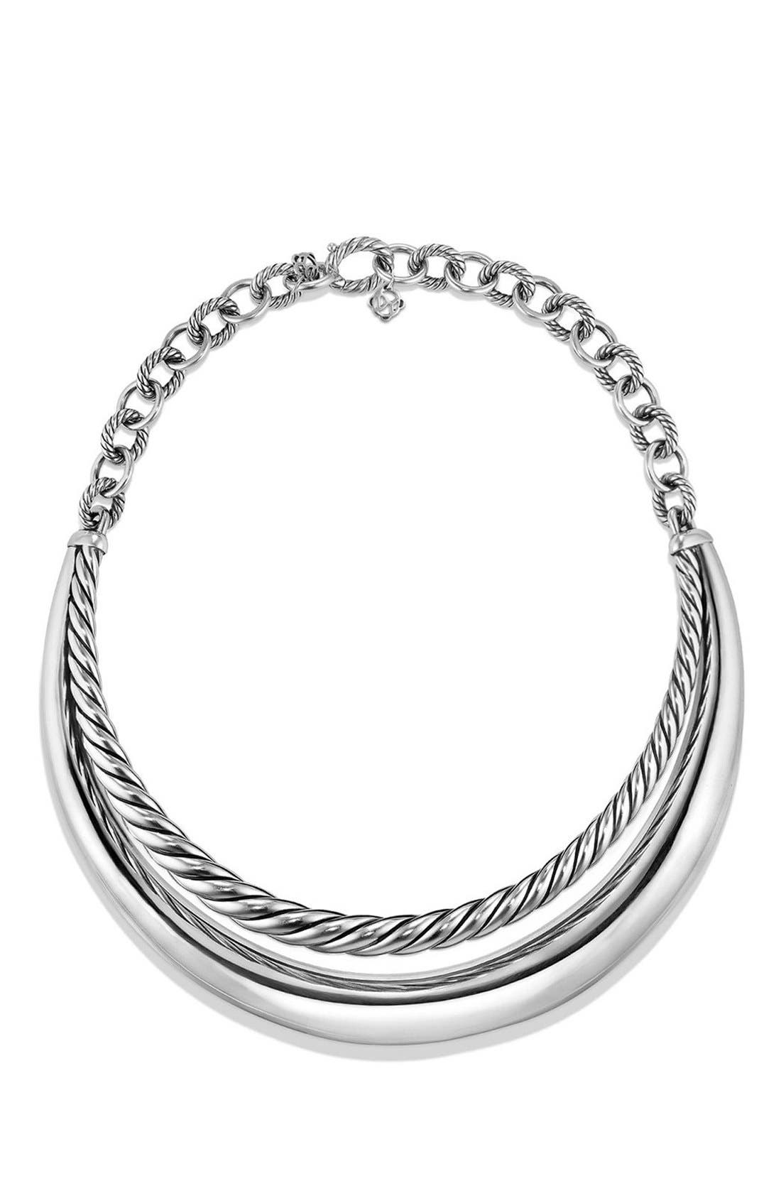 Pure Form Collar Necklace,                         Main,                         color, Silver