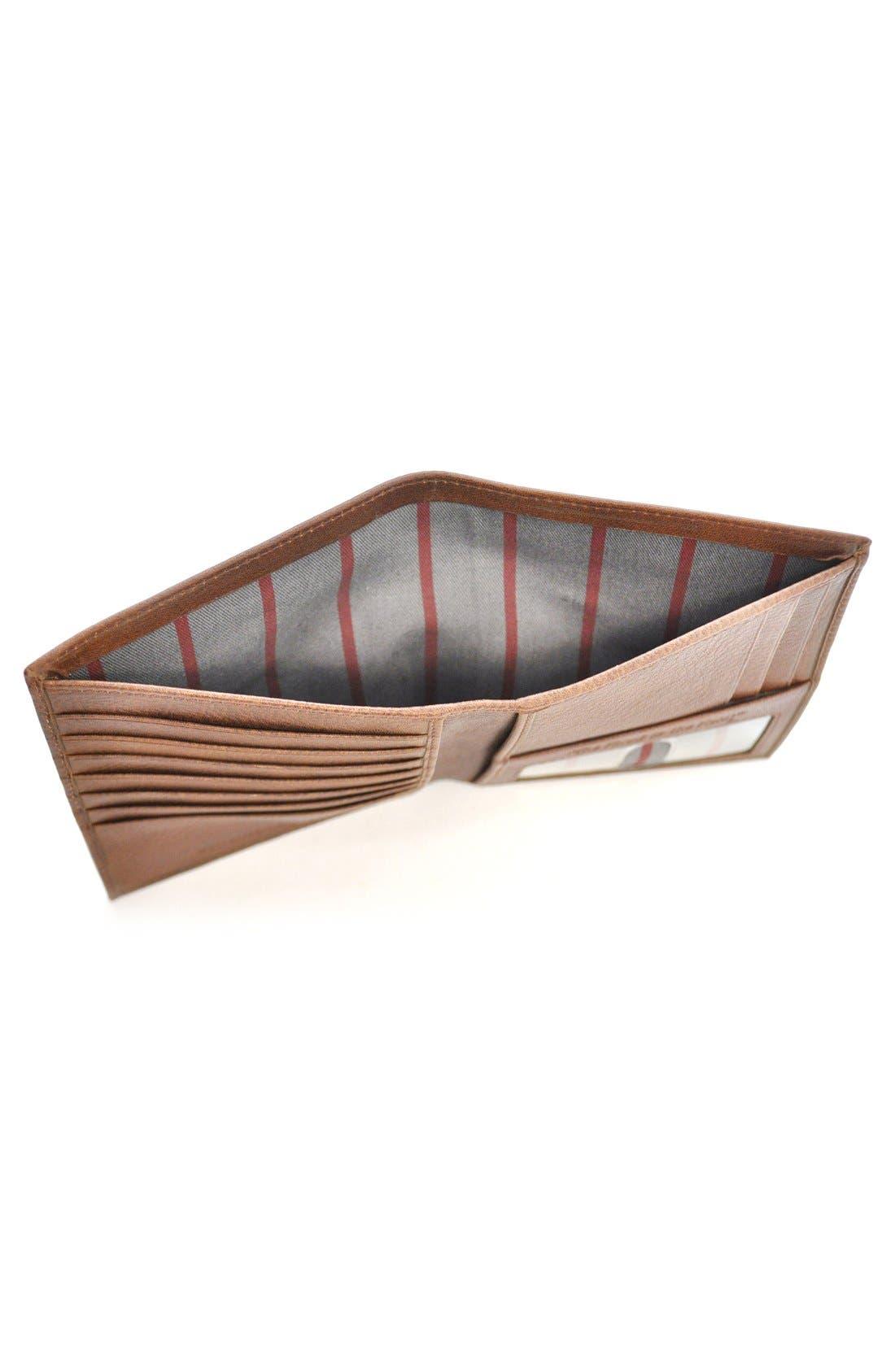 Triple Play Leather Executive Wallet,                             Alternate thumbnail 4, color,                             Cognac