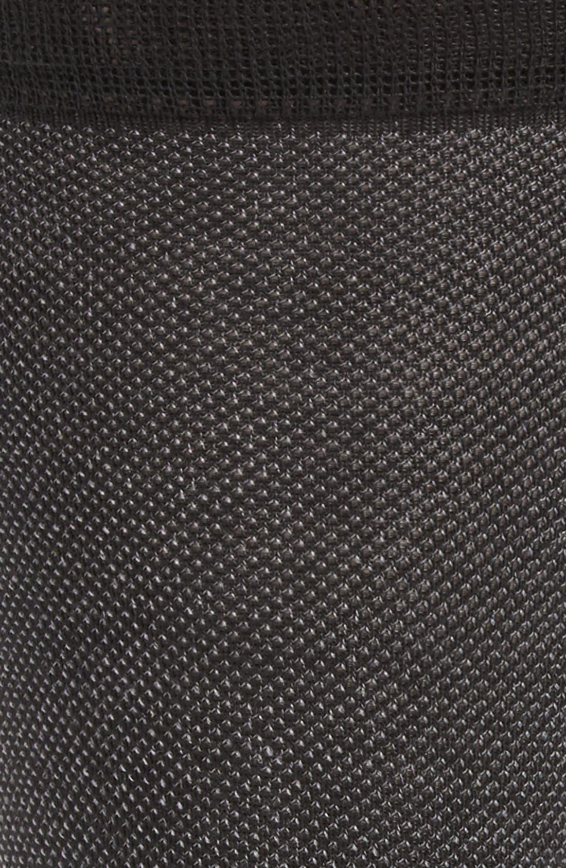 Piqué Texture Crew Socks,                             Alternate thumbnail 2, color,                             Black
