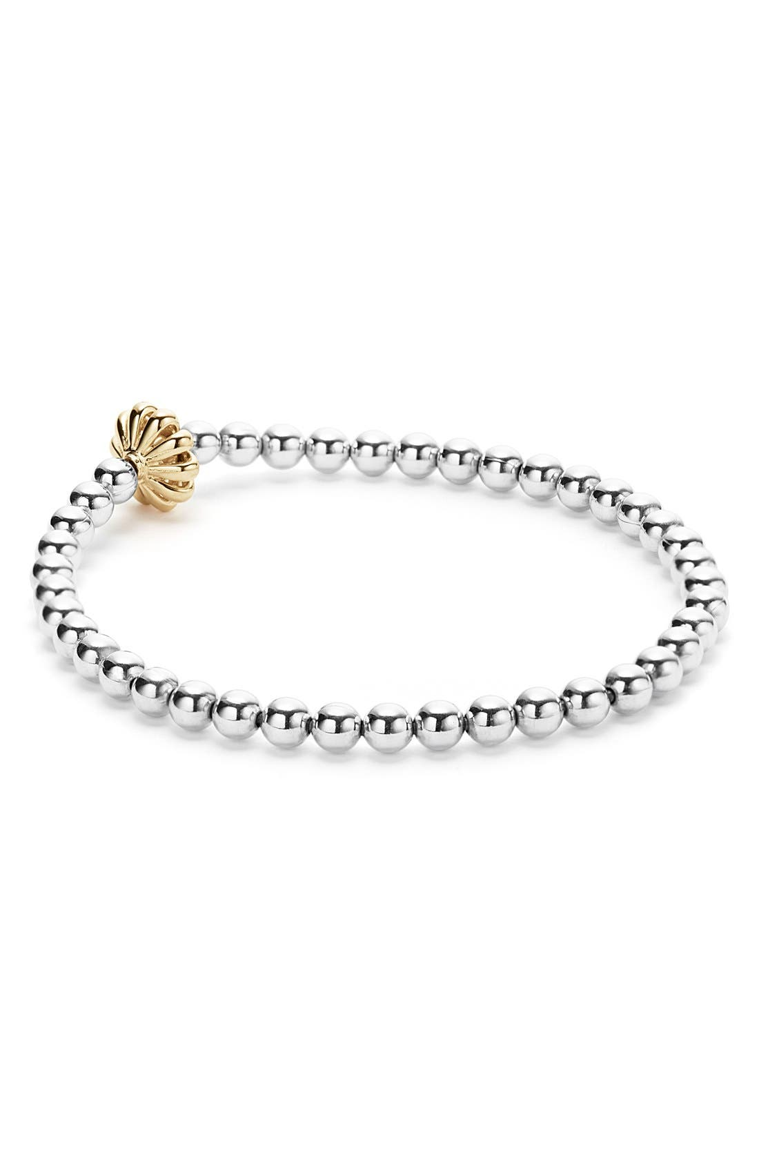 Caviar Icon Ball Bracelet,                             Alternate thumbnail 2, color,                             Silver/ Gold Birdcage