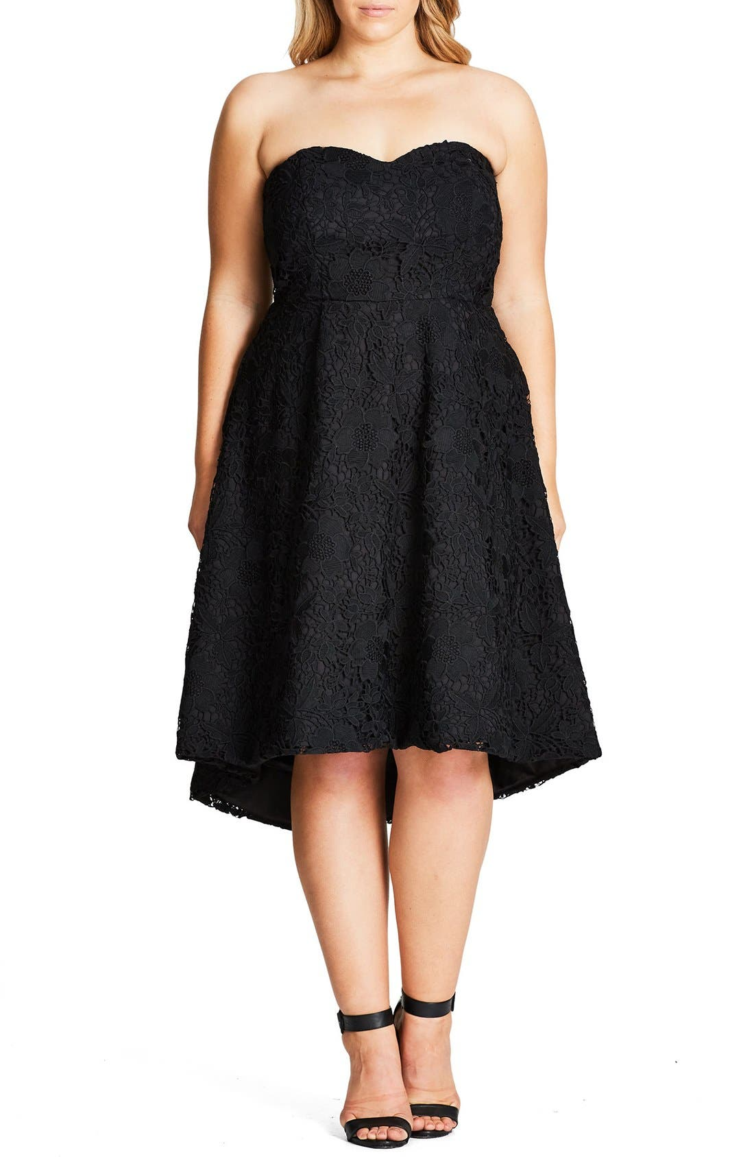City Chic Clara Lace Dress (Plus Size)