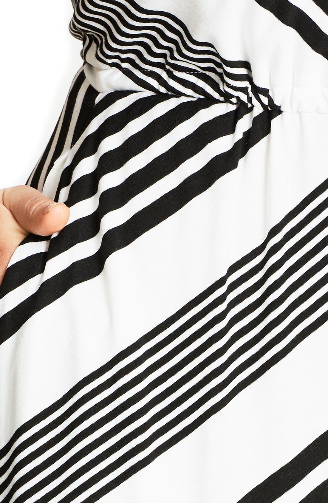 Alternate Image 4  - City Chic Stripe Maxi Dress (Plus Size)