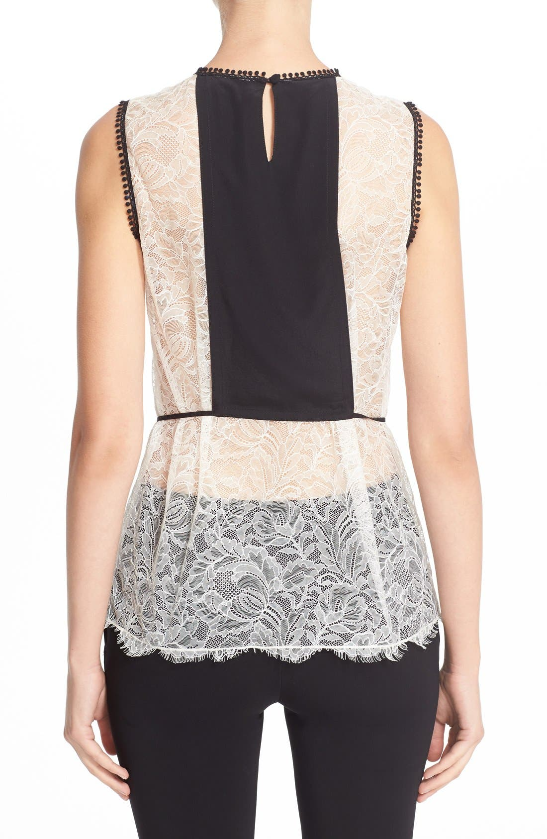 Alternate Image 2  - Yigal Azrouël Floral Embroidered Lace Top