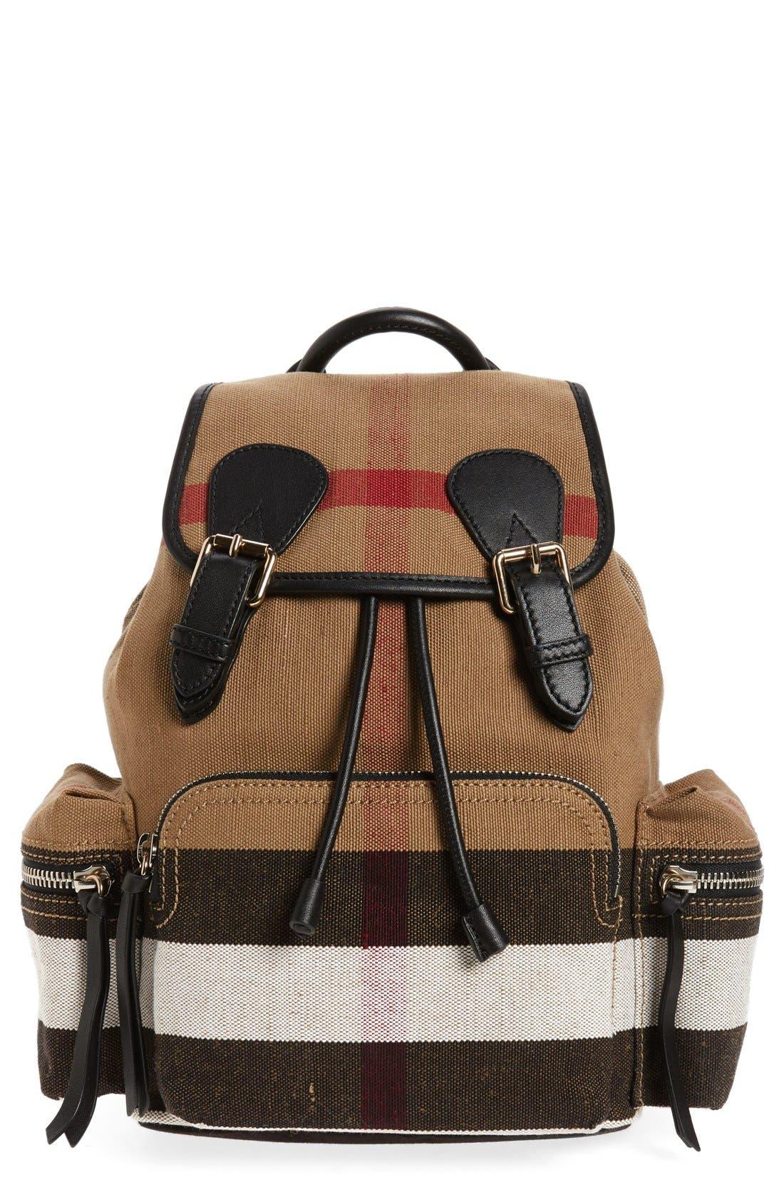 Burberry Medium Canvas Backpack