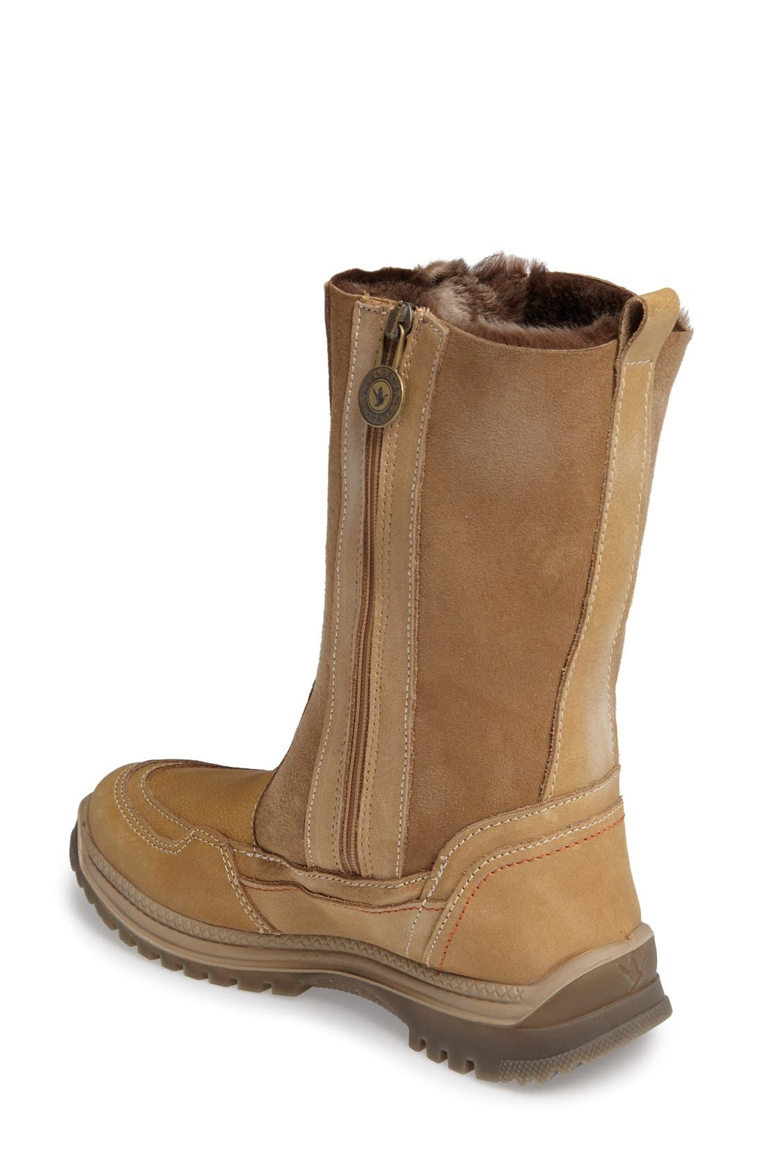 Seraphine Genuine Shearling Waterproof Winter Boot,                             Alternate thumbnail 2, color,                             Camel Leather