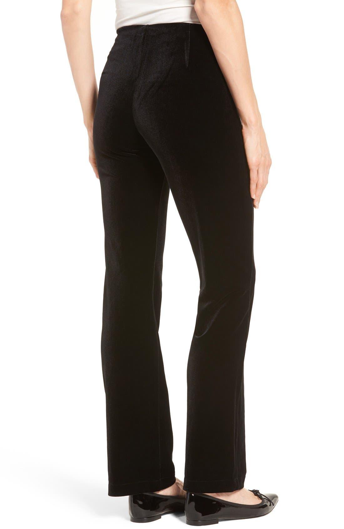 Velvet Pants,                             Alternate thumbnail 2, color,                             Black