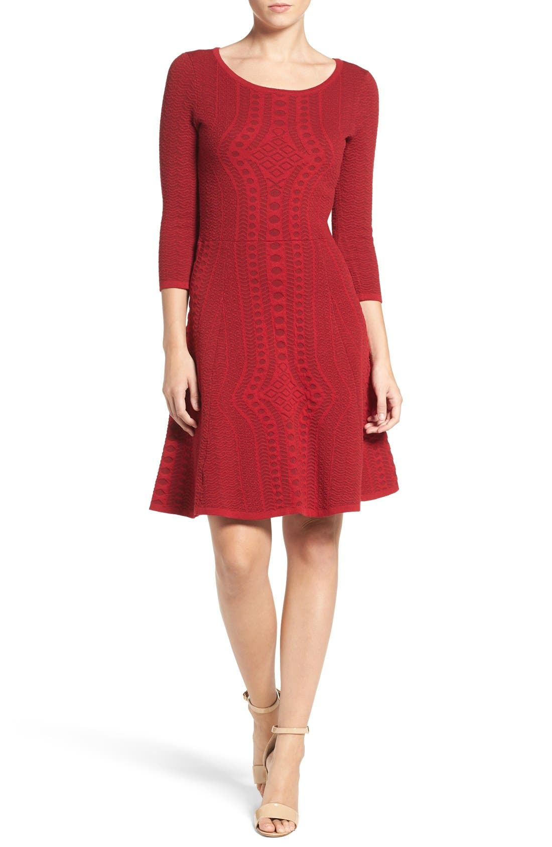 Alternate Image 4  - Gabby Skye Fit & Flare Sweater Dress