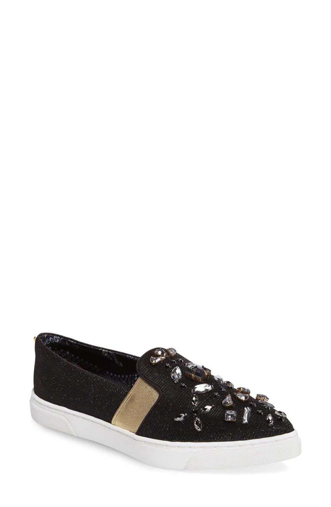 Alternate Image 1 Selected - Ted Baker London 'Thfia' Floral Pointy Toe Slip-On Sneaker (Women)