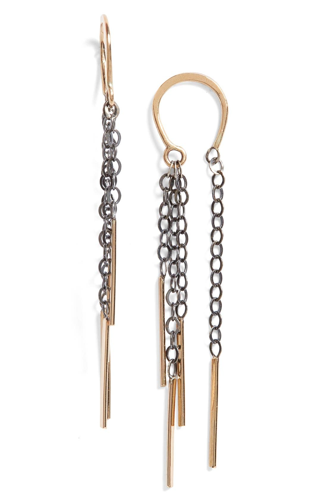 Alternate Image 1 Selected - Melissa Joy Manning Horseshoe Drop Earrings