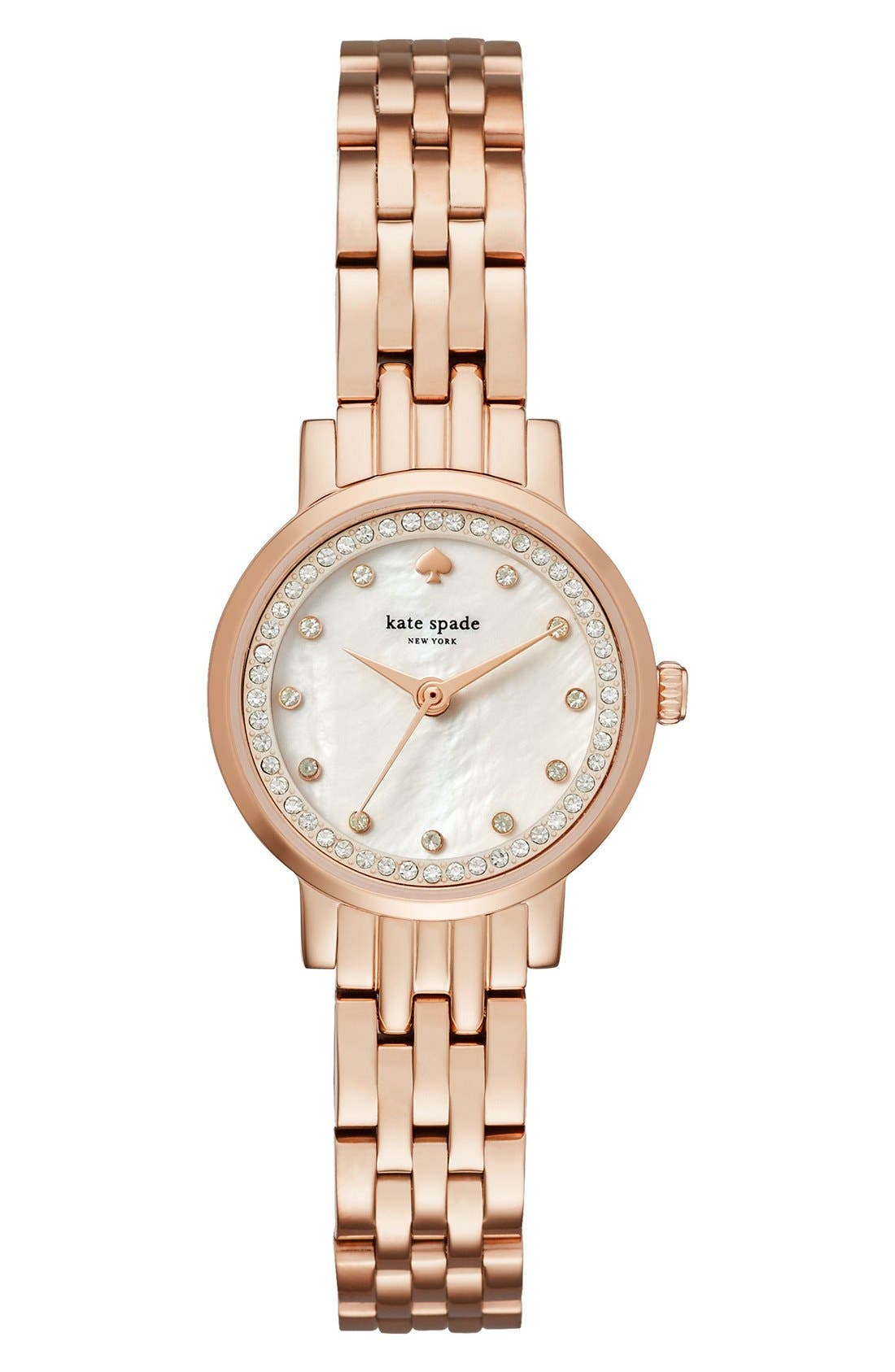 KATE SPADE NEW YORK mini monterey glitz bracelet watch, 24mm