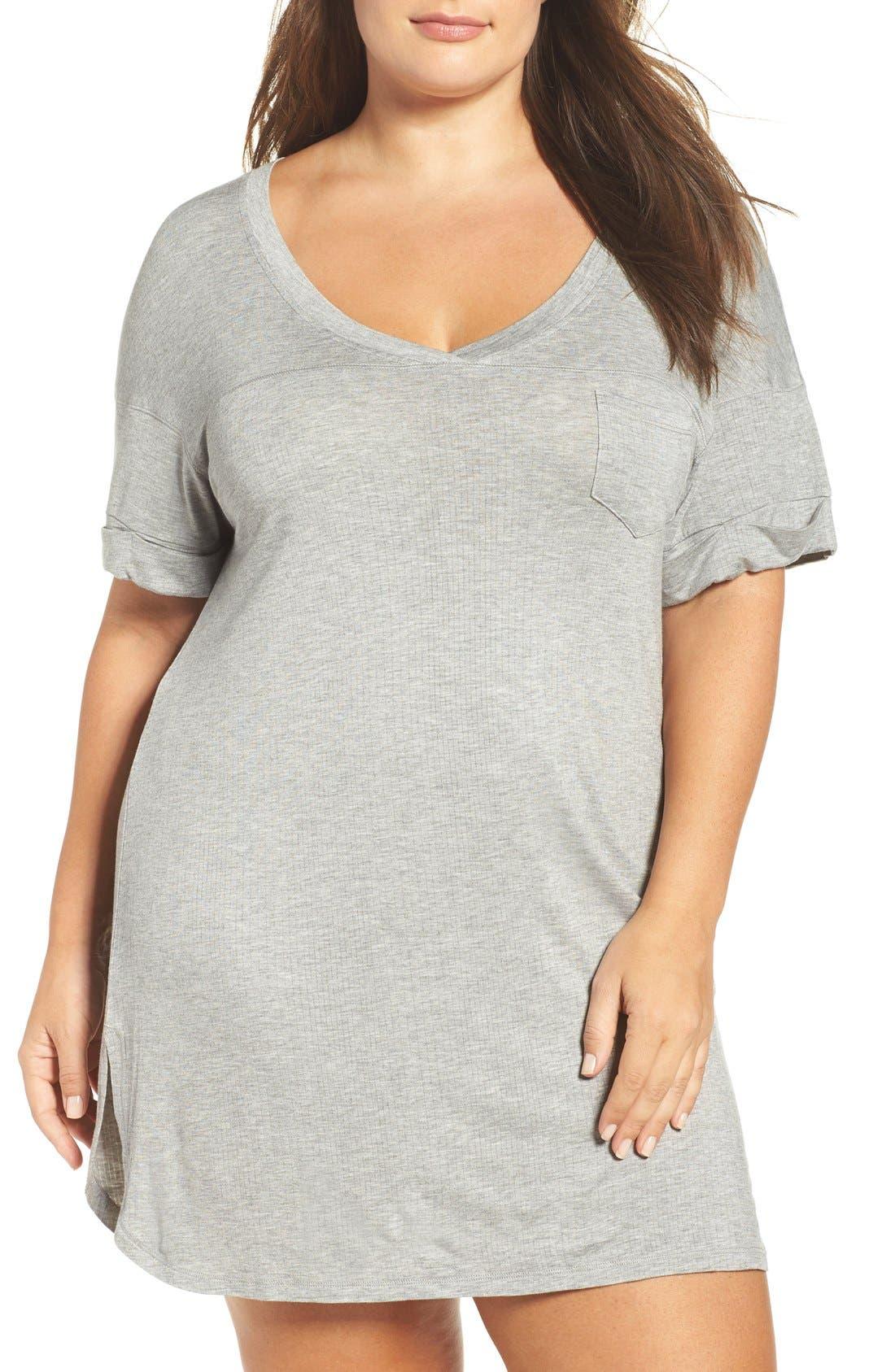 Honeydew Intimates Ribbed Sleep Shirt (Plus Size) (2 for $60)