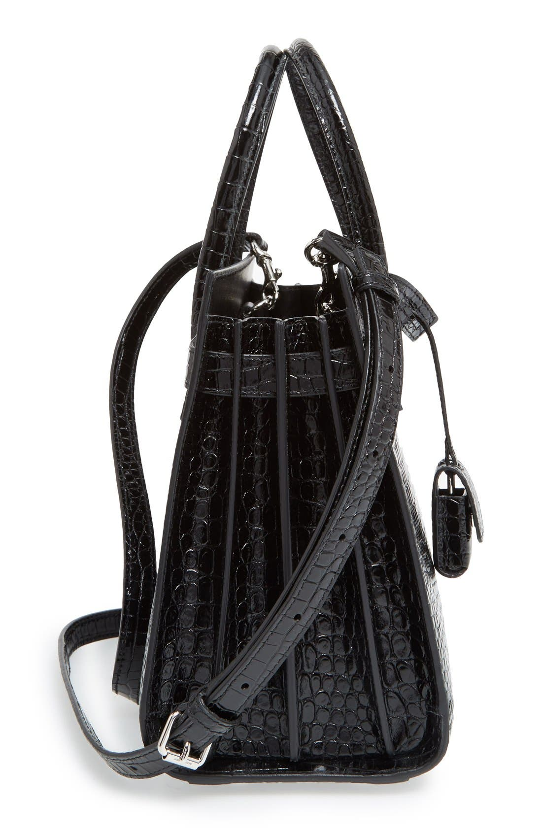 Alternate Image 3  - Saint Laurent Baby Sac de Jour Croc Embossed Calfskin Leather Tote