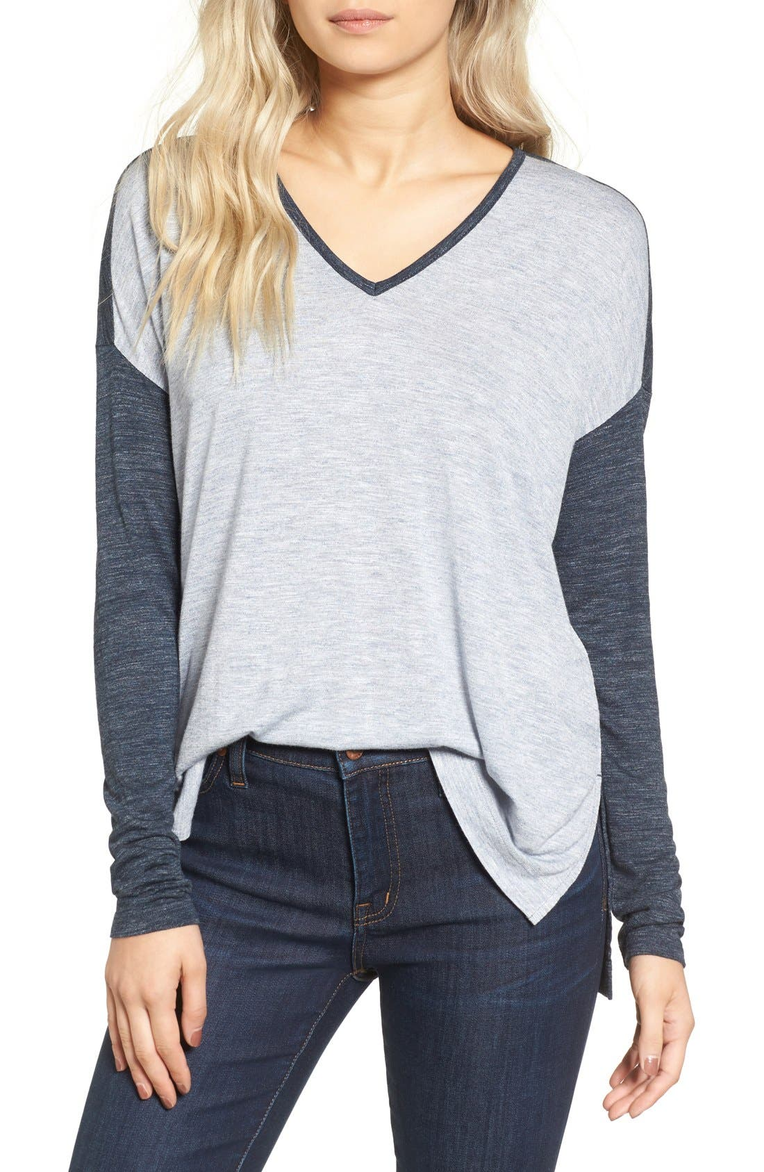 Alternate Image 1 Selected - Madewell Anthem Lightweight Colorblock Tee