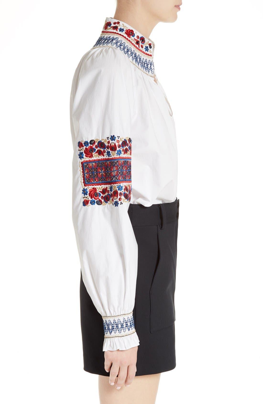 Alternate Image 4  - Tibi Cora Embroidered Top