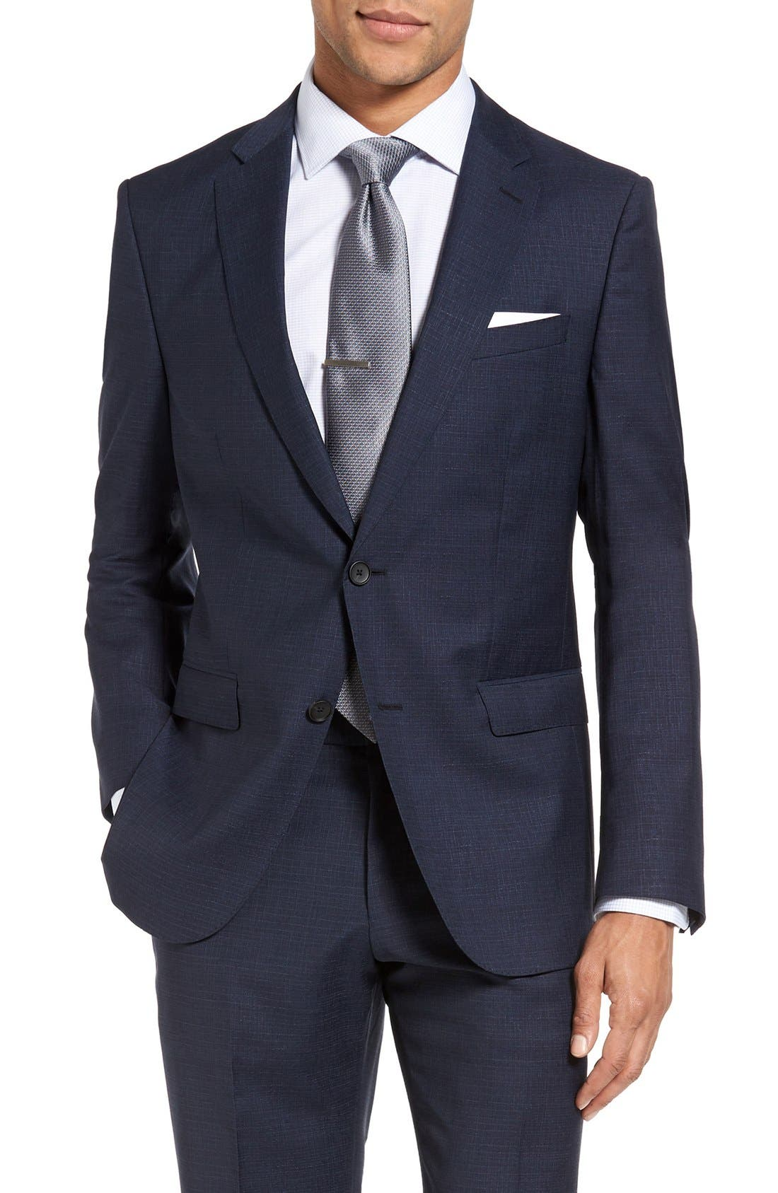 Alternate Image 4  - BOSS Nova/Ben Trim Fit Solid Wool Suit