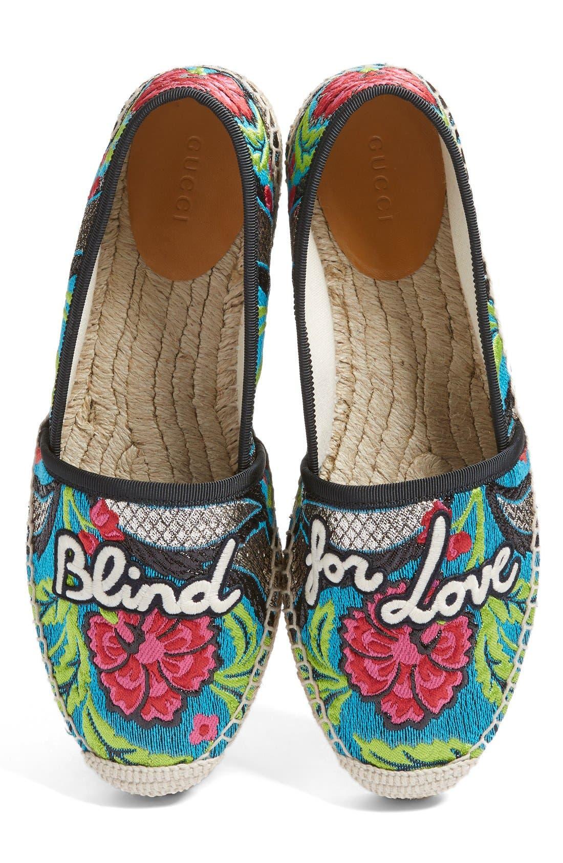 Gucci Pilar Blind for Love Espadrille (Women)