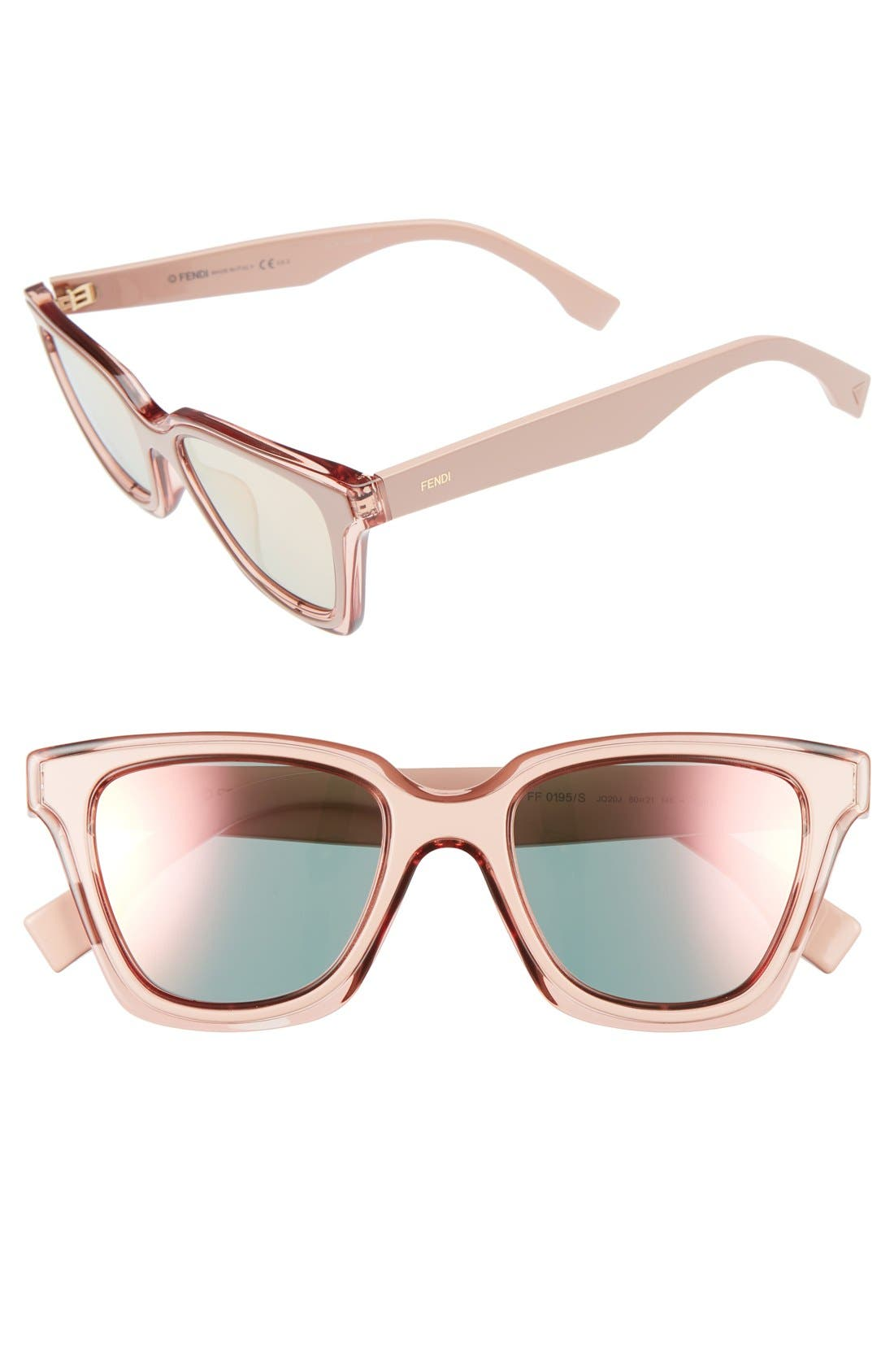 Be You 50mm Gradient Sunglasses,                             Main thumbnail 1, color,                             Pink