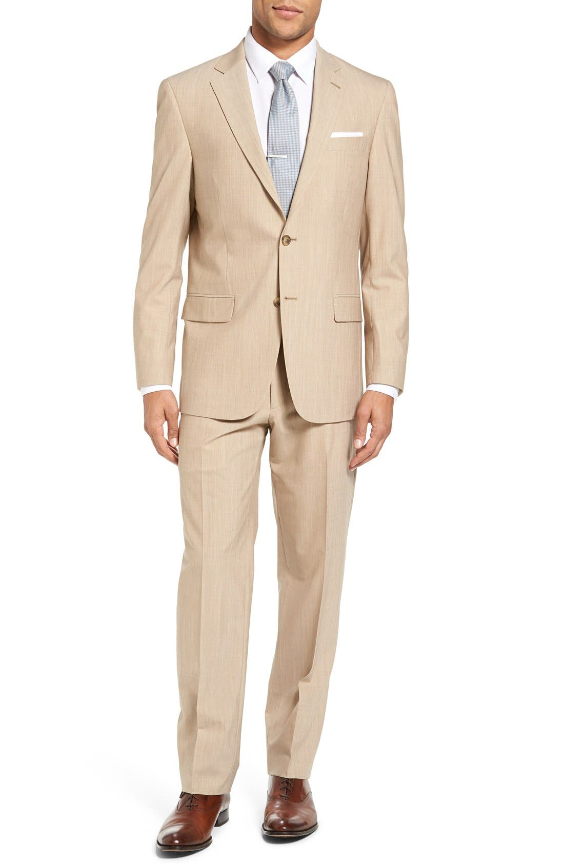 Main Image - Hart Schaffner Marx New York Classic Fit Solid Stretch Wool Suit