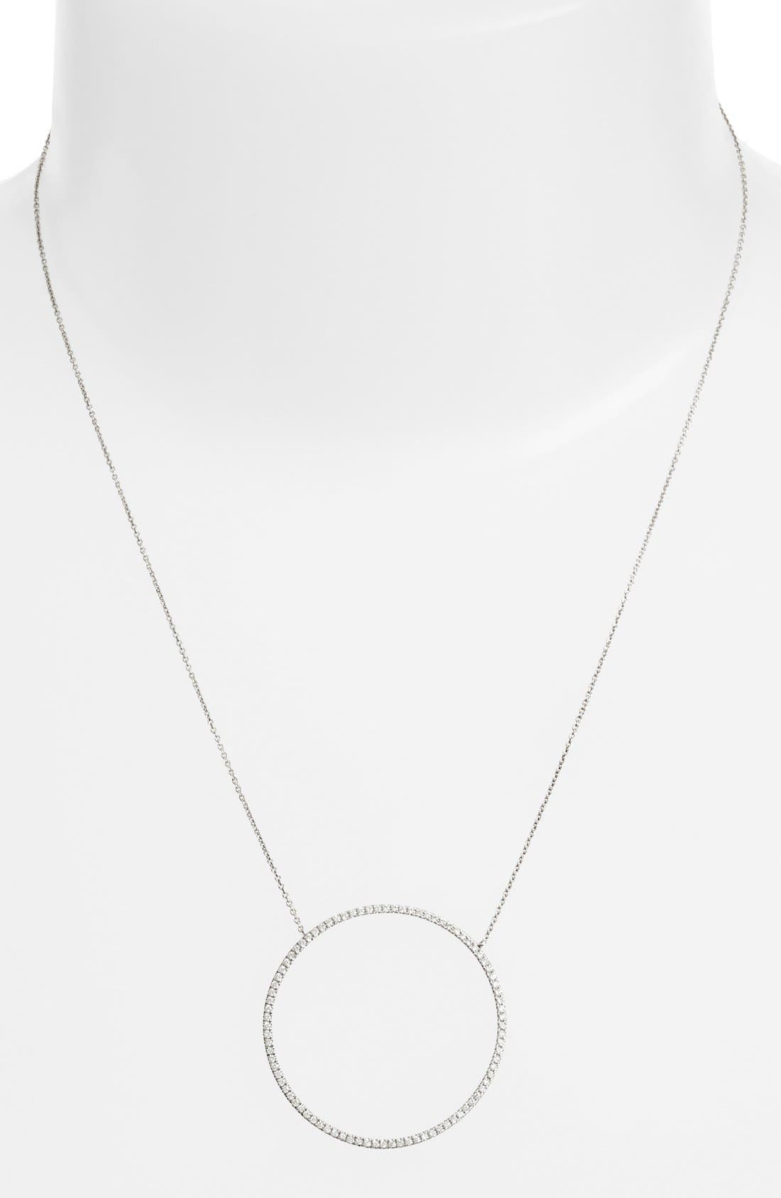 Alternate Image 2  - Bony Levy Large Circle Pendant Necklace (Nordstrom Exclusive)