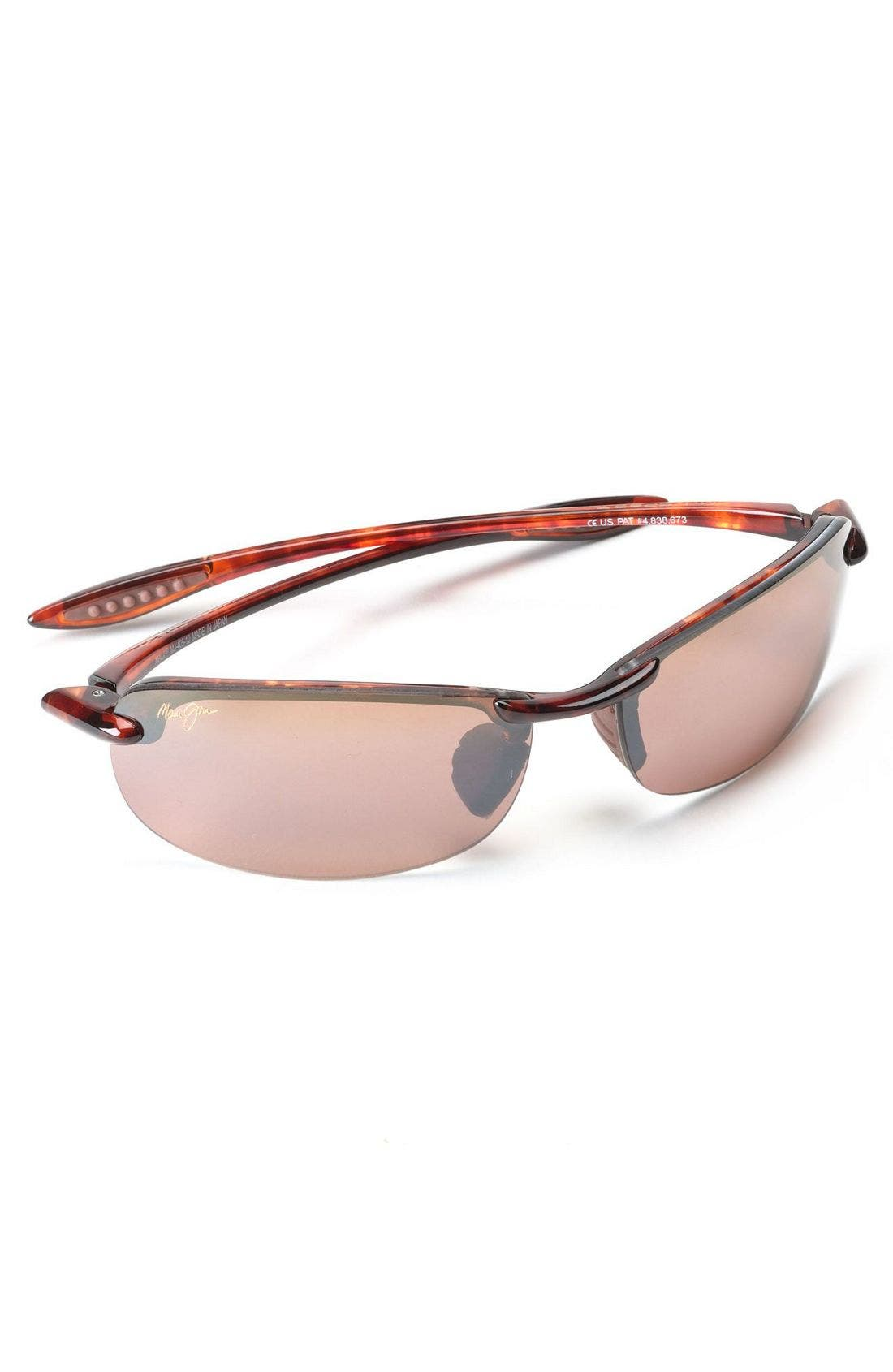 'Makaha - PolarizedPlus<sup>®</sup>2' 63mm Sunglasses,                             Alternate thumbnail 2, color,                             Tortoise