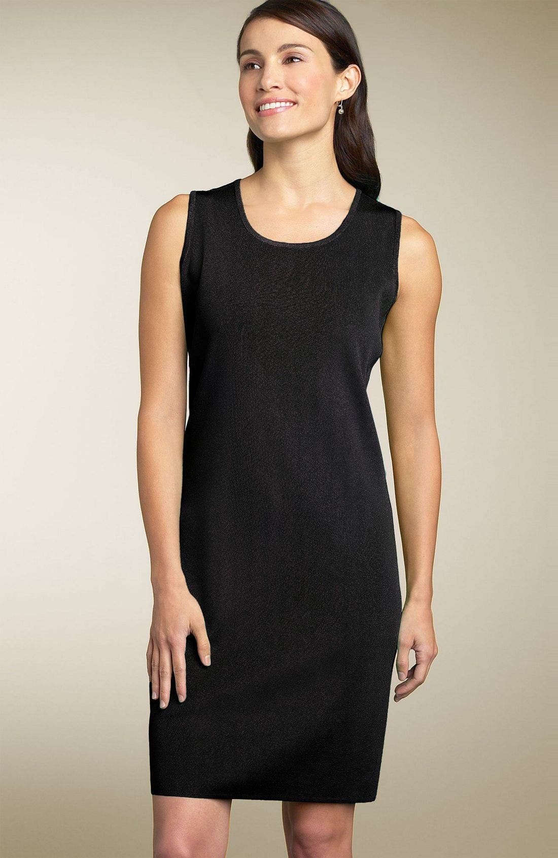Alternate Image 1 Selected - Exclusively Misook Tank Dress (Petite)