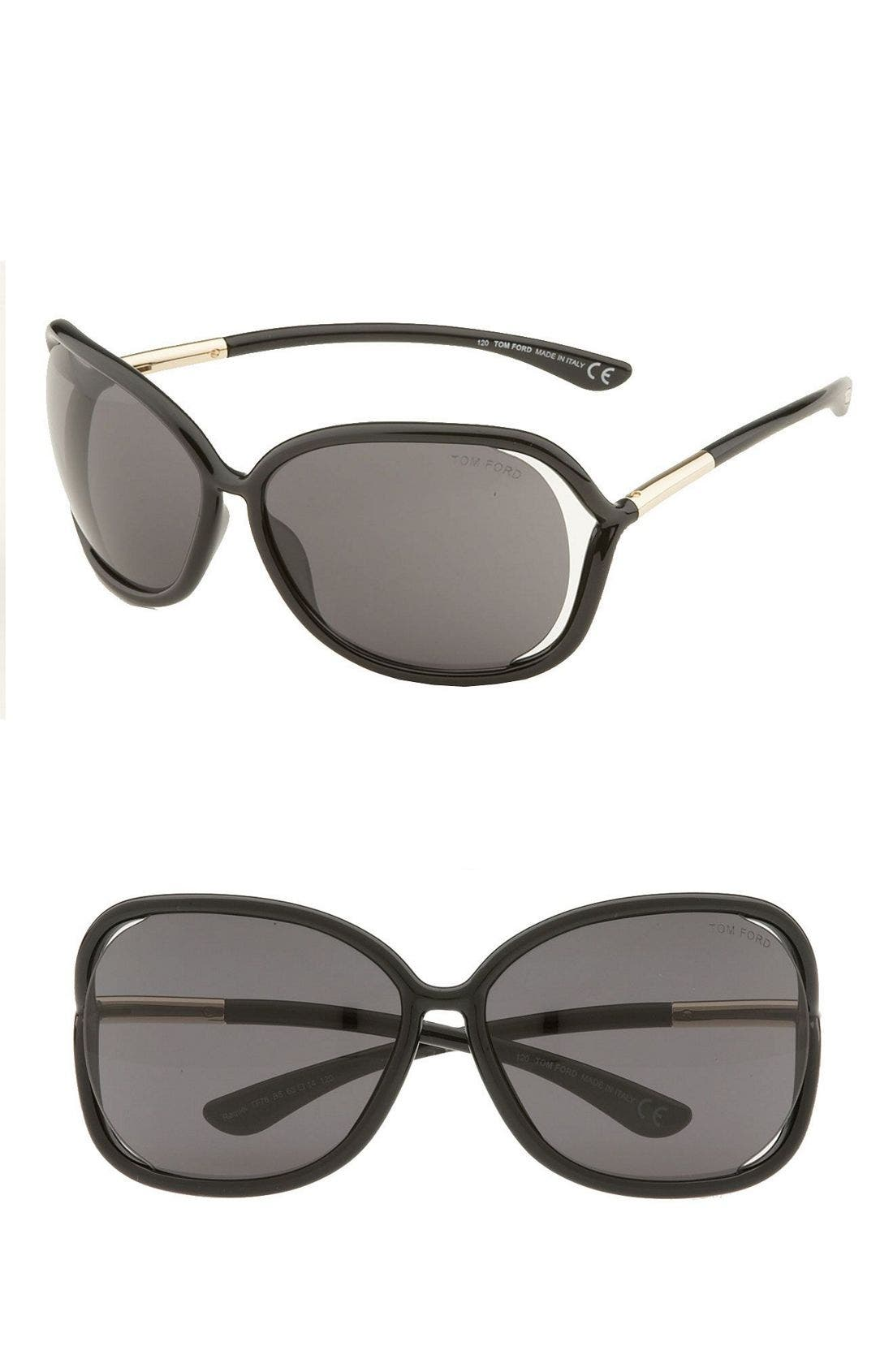 Main Image - Tom Ford 'Raquel' 63mm Oversized Open Side Sunglasses