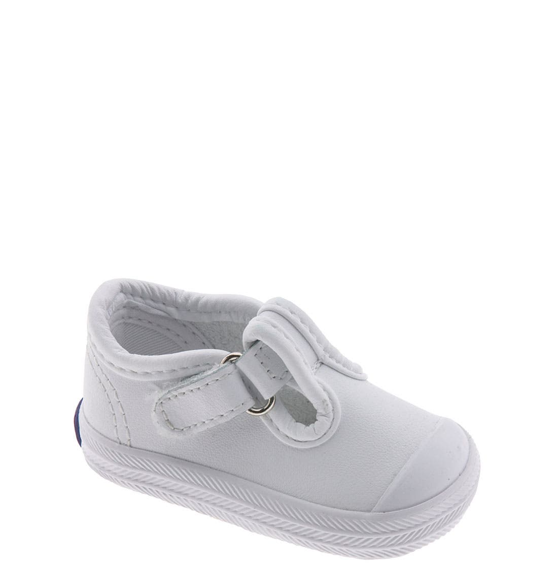 Keds® 'Champion' T-Strap Shoe (Baby & Walker)