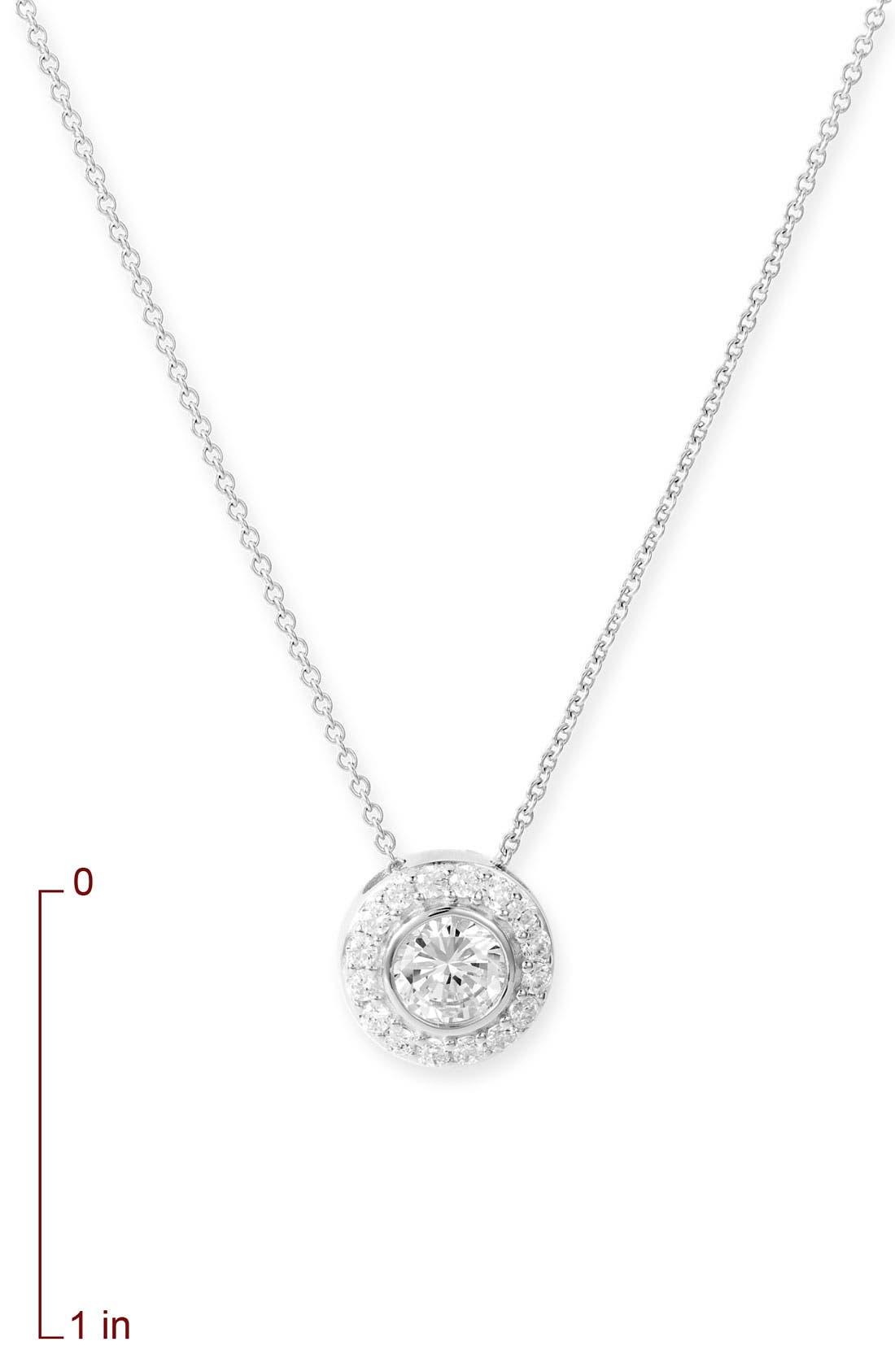 Alternate Image 2  - Nordstrom Bezel Pendant Necklace