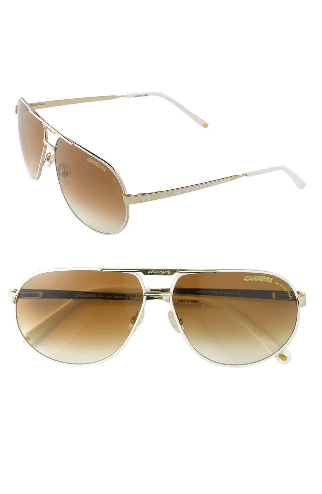 Alternate Image 1 Selected - Carrera Eyewear 'Master 2' 61mm Classic Metal Aviator Sunglasses
