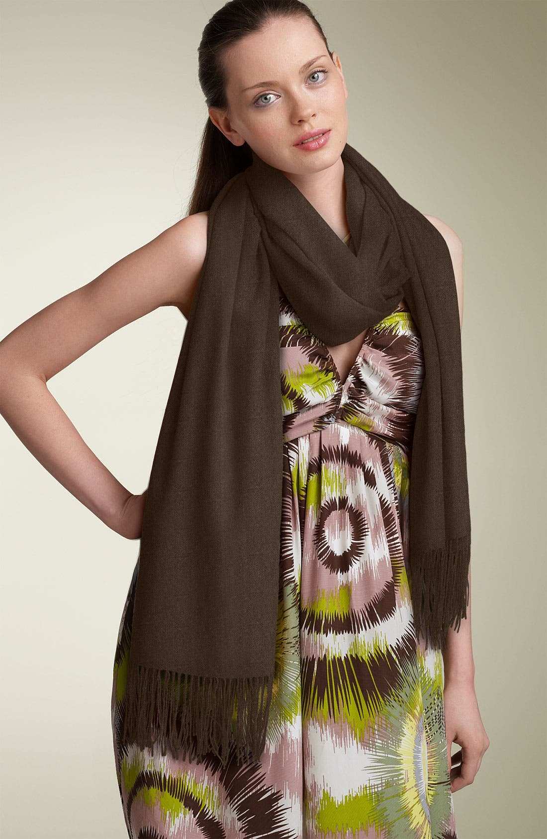 Alternate Image 1 Selected - Nordstrom Tissue Weight Cashmere Wrap