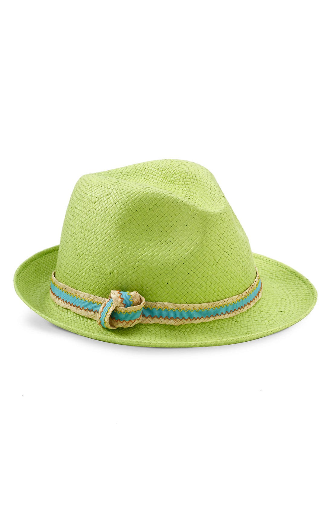 Alternate Image 1 Selected - Tarnish Straw Fedora with Contrast Trim