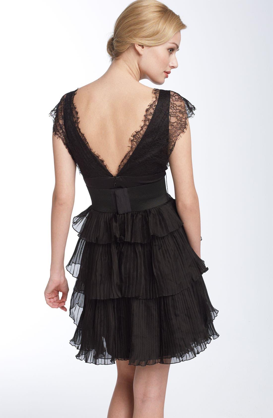 Bcbg black organza party dress