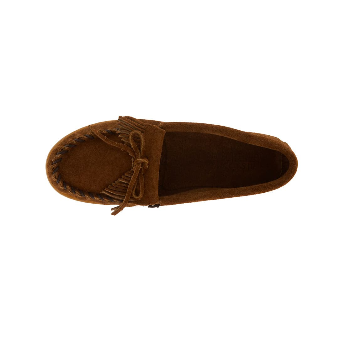 Alternate Image 3  - Minnetonka Kiltie Moccasin (Walker, Toddler, Little Kid & Big Kid)