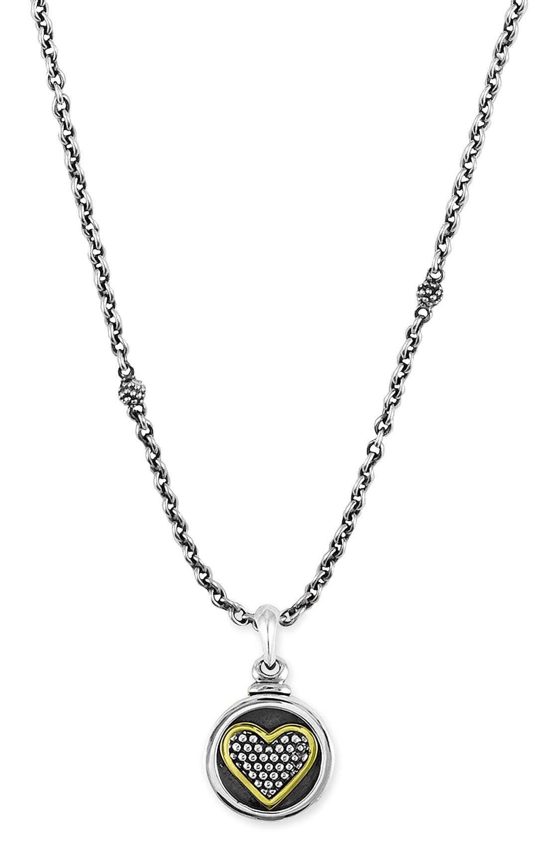 Main Image - LAGOS Heart Locket Caviar Necklace