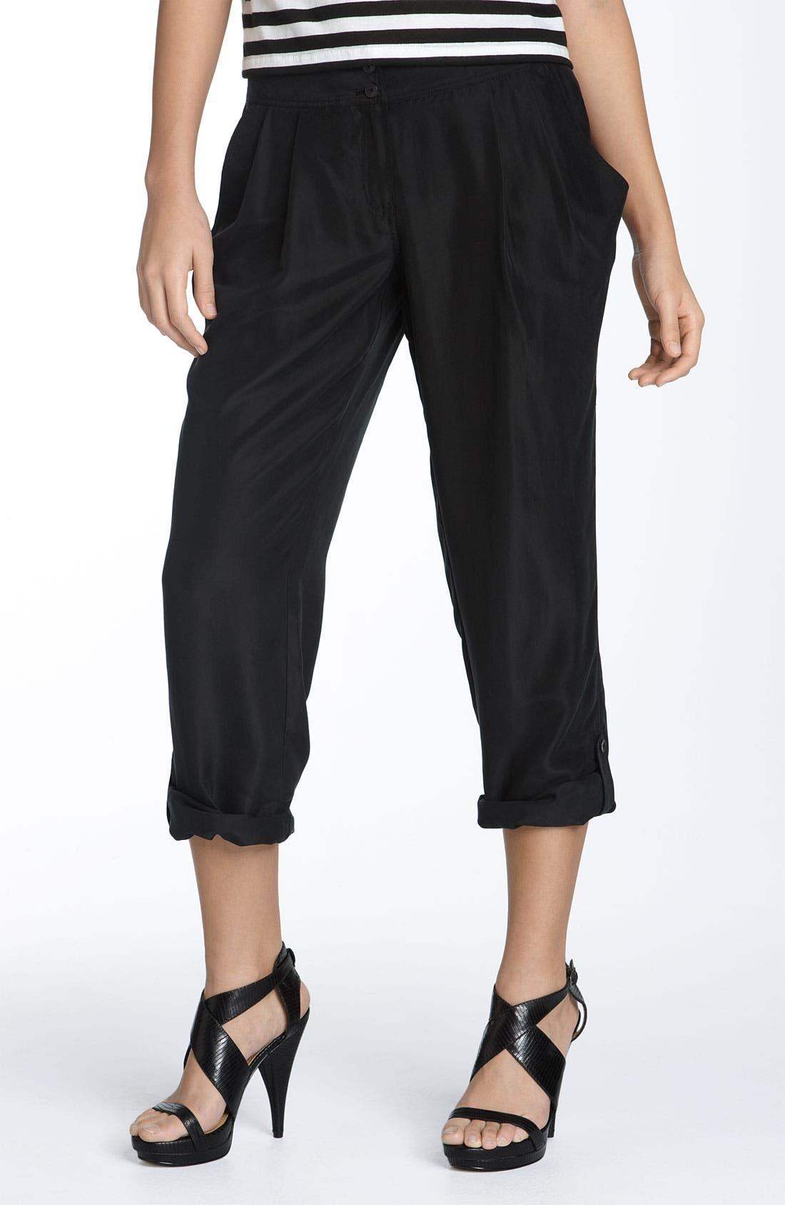Alternate Image 1 Selected - Hinge® Skinny Silk Pants