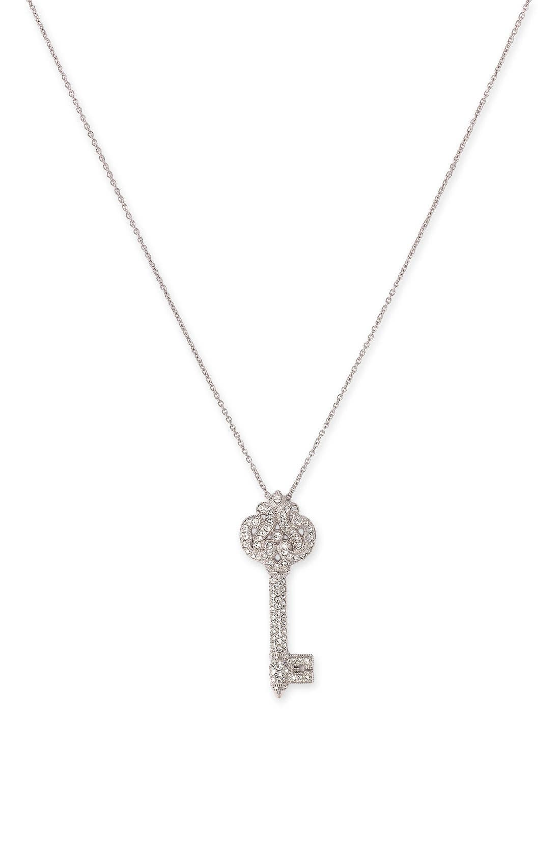 Alternate Image 1 Selected - Nadri 'Cartouche' Key Pendant Necklace