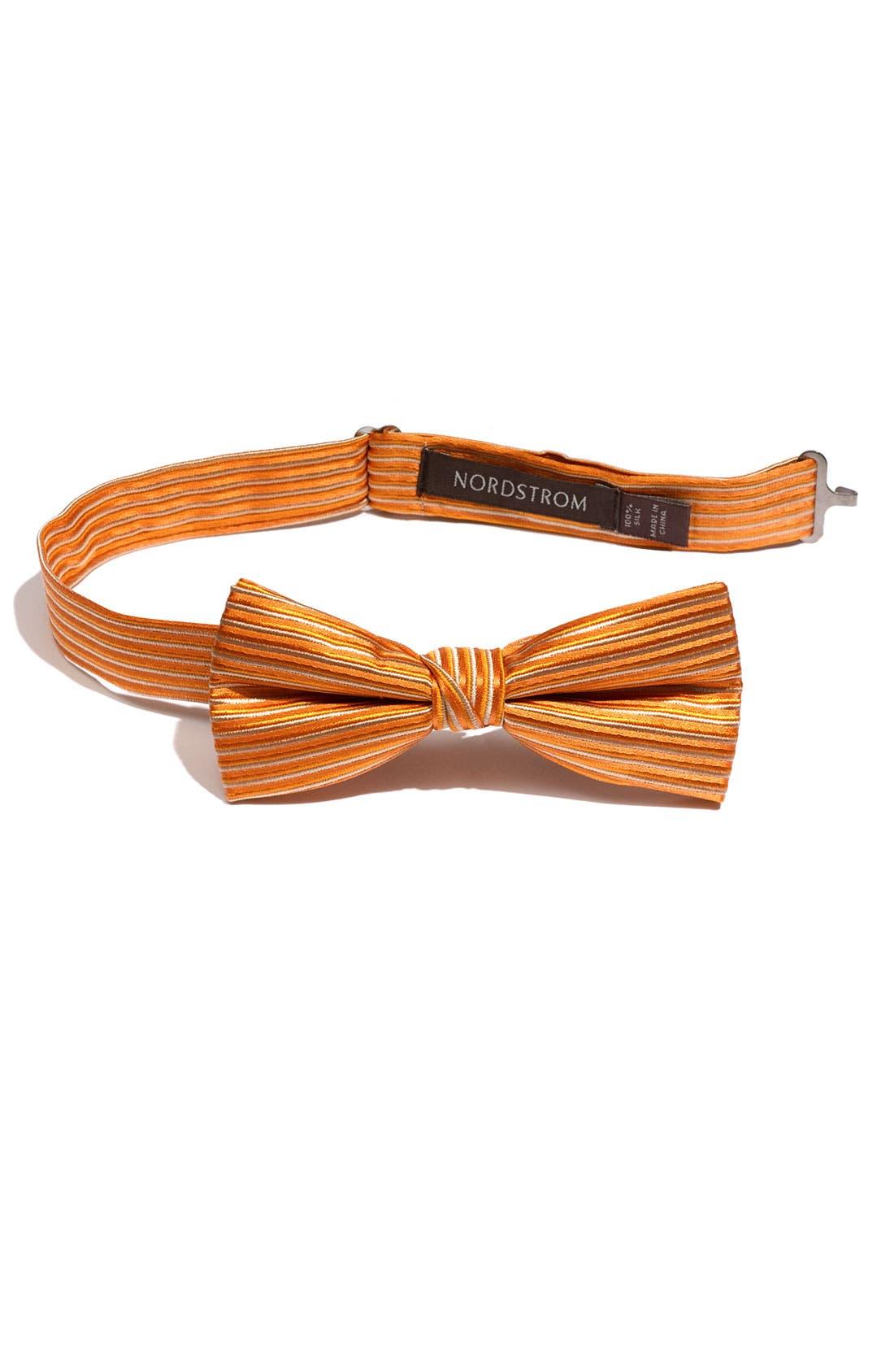Alternate Image 1 Selected - Nordstrom Stripe Silk Bow Tie (Big Boys)