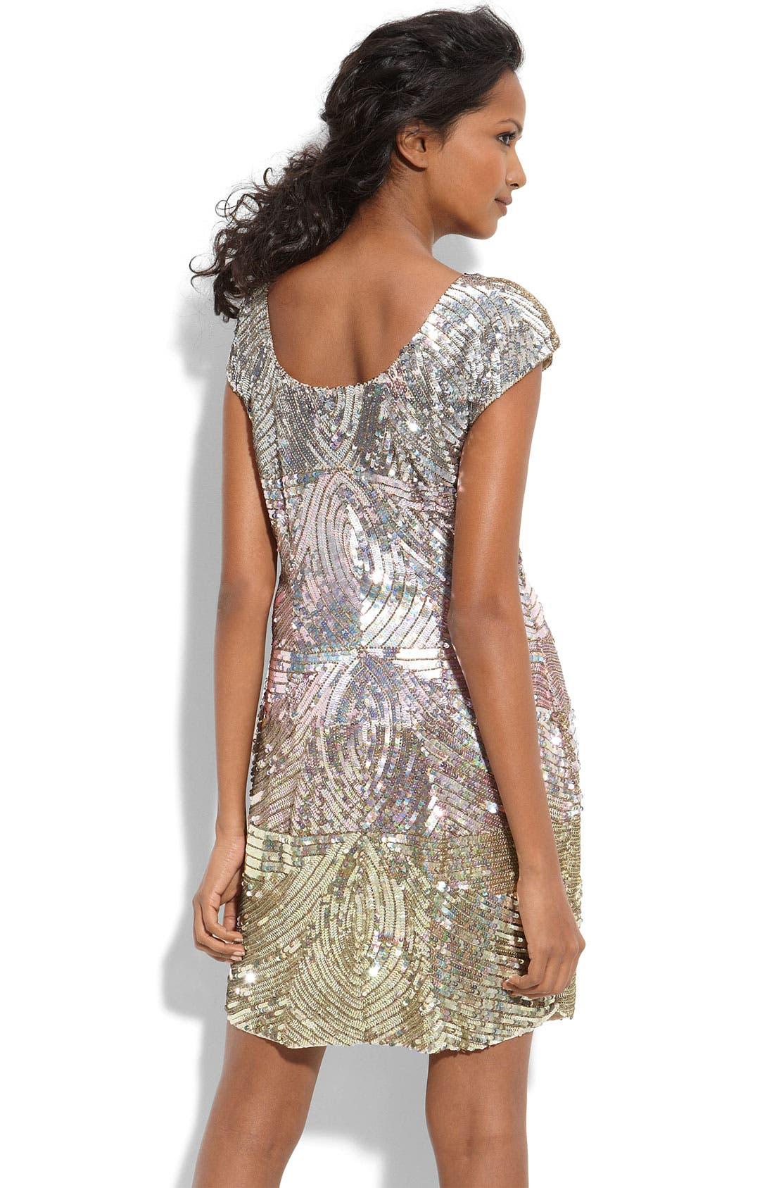 Alternate Image 2  - Adrianna Papell Ombré Sequin Shift Dress