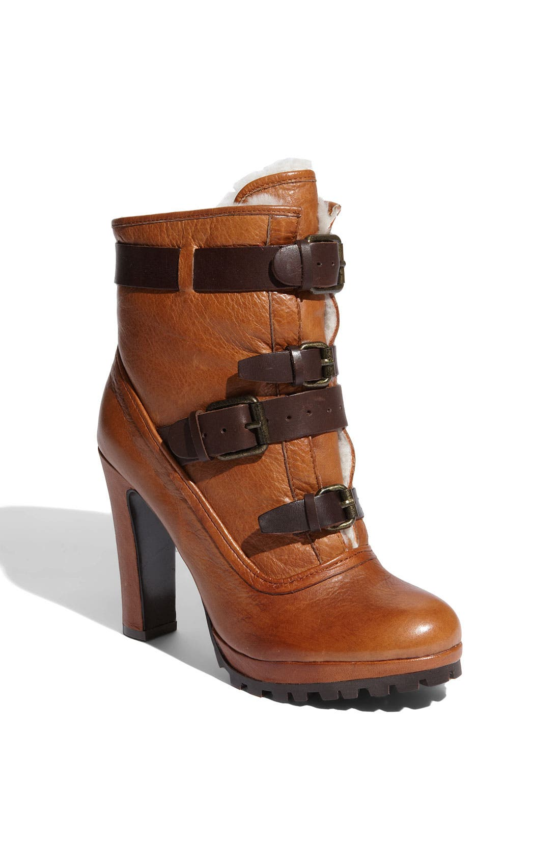 'Josh' Ankle Boot,                         Main,                         color, Natural Leather